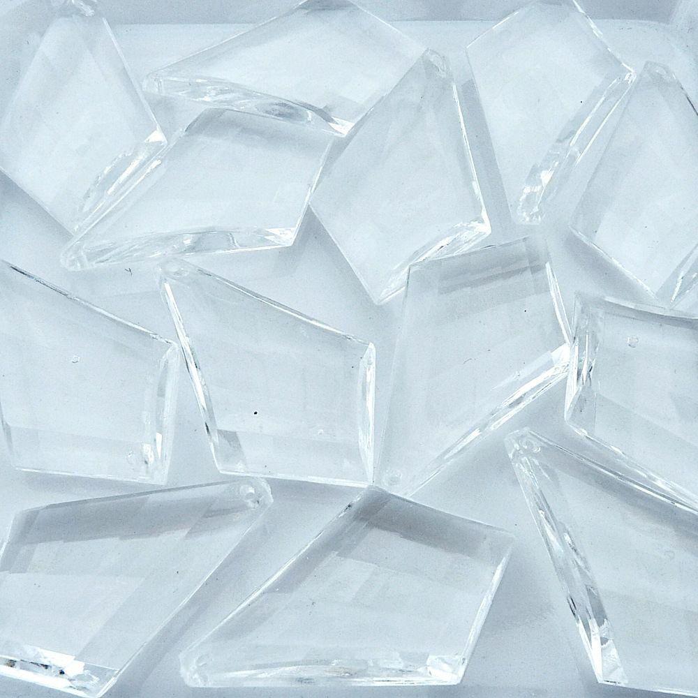 Pingente Gravata de Acrílico - Transparente - 48mm - 100pçs  - Nathalia Bijoux®