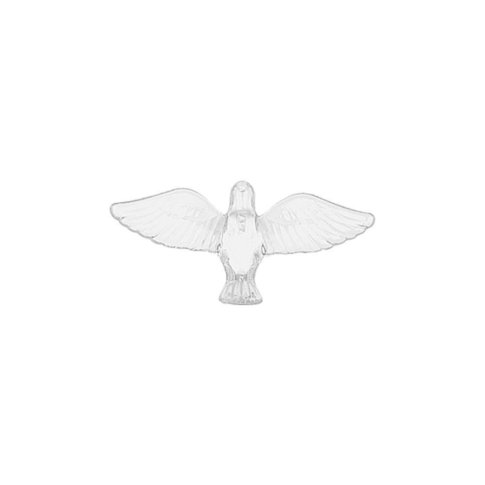 Pingente Pombinha de Acrílico - 39mm  - Nathalia Bijoux®