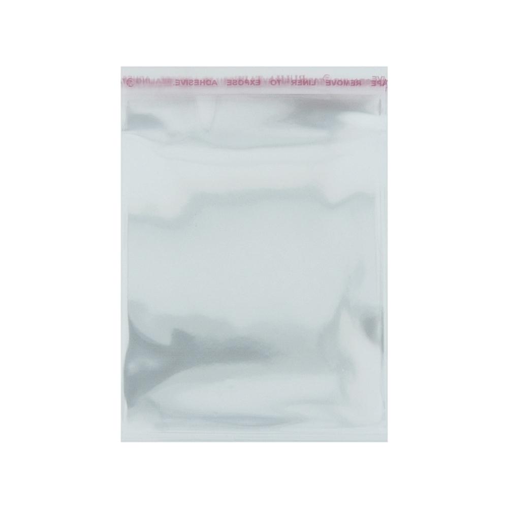 Saco Plástico com Aba Adesiva - Transparente - 10cm x 17cm - 100pçs  - Nathalia Bijoux®