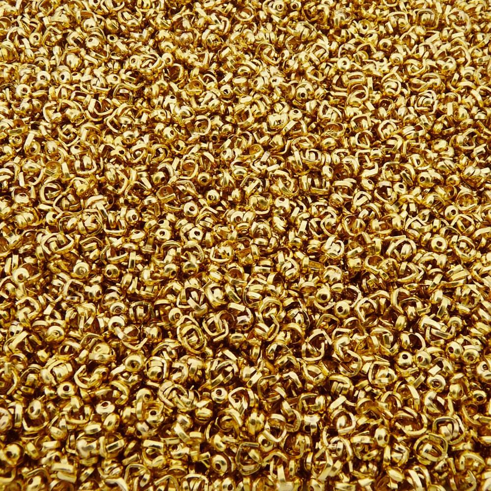 Tips - Dourado - 3mm - 100pçs  - Nathalia Bijoux®