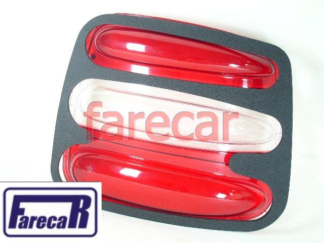 LENTE DA LANTERNA TRASEIRA FIAT BRAVA COM BORRACHA  - Farecar Comercio