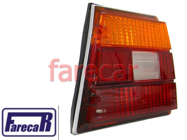 Lanterna traseira Tricolor GM Caravan 1980 1981 1982 1983 1984 1985 1986 1987 1988 1989 1990 1991 1992 1993  - Farecar Comercio