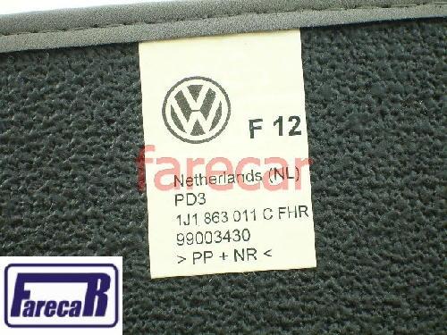 JG TAPETE CARPETE ORIGINAL VW CINZA GOLF BORA NEW BEETLE  - Farecar Comercio