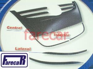 Kit Parachoque Preto Gol G4 Grade Aplique Moldura Capa Giv  - Farecar Comercio