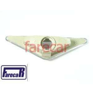 Lanterna Lateral Pisca Seta Paralama Focus Cristal Branca  - Farecar Comercio