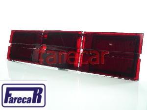 Extensão Aplique Moldura Da Lanterna Opala Vermelha Nova  - Farecar Comercio