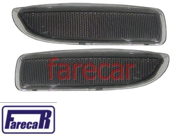 Par Lanterna Refletivo Fume do Parachoque Do Corsa Hatch G2 2002 a 2008 02 03 04 05 06 07 08  - Farecar Comercio