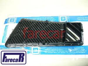 Moldura Tela Grade Difusor Ar Painel Kadett até 95 Esquerdo Preto Original 93253725  - Farecar Comercio