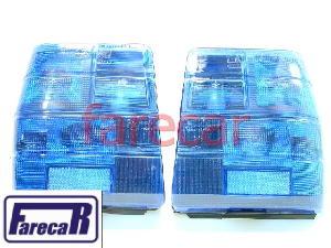 Par Lanterna Traseira Uno Azul Colors Line Arteb  - Farecar Comercio