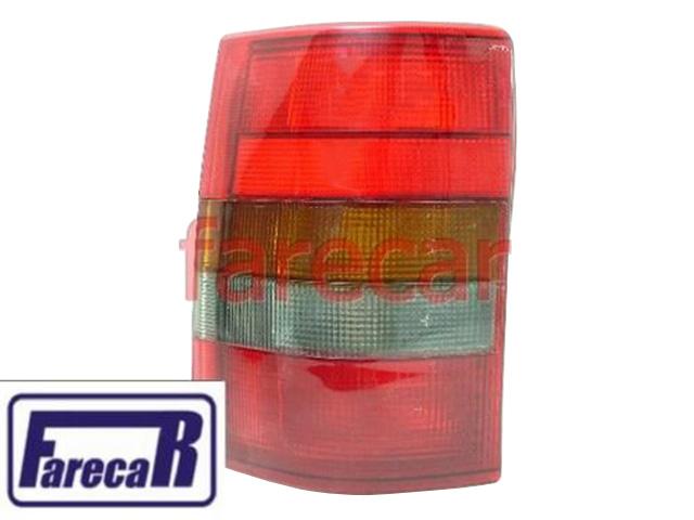 Lanterna Omega Perua Suprema Vermelha  - Farecar Comercio