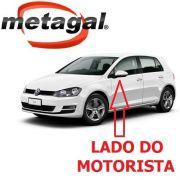 Capa Cobertura do Espelho Retrovisor Lado Esquerdo Pintada na Cor Branco Puro VW Golf 2014 2015 2016 2017 14 15 16 17
