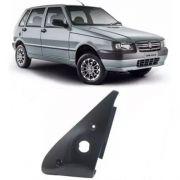 Moldura de parafuso da porta de acabamento interno do espelho retrovisor com furo para controle lado direito original Fiat 100173605 Uno 4 portas 2004 2005 2006 2007 2008 2009