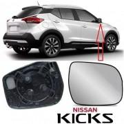 Subconjunto de Lente de Vidro espelhada Com Base para Espelho Retrovisor Direito Nissan Kicks 2016 2017 2018 2019