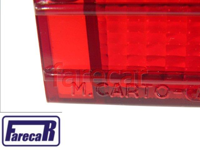 Lente DIREITA da lanterna Traseira Fiat 147 Parte Do Pisca VERMELHA Original CARTO  - Farecar Comercio