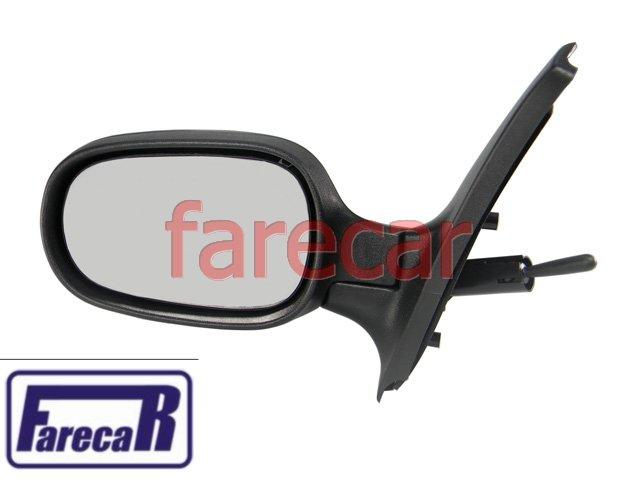 Espelho Retrovisor Renault Clio 00 A 11 controle alavanca 2p ou 4p - hatch ou sedan  - Farecar Comercio