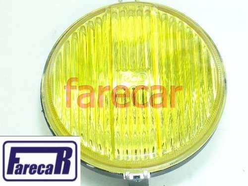 Par Farol Milha Modelo Gts Raiado Amarelo Plastico Rc155  - Farecar Comercio