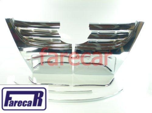 Kit Aplique Parachoque Cromado Fox Grade Moldura Capa Space  - Farecar Comercio