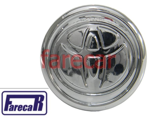 Calota Miolo Roda Toyota Corolla 2002 A 2007 Cromada Novas  - Farecar Comercio