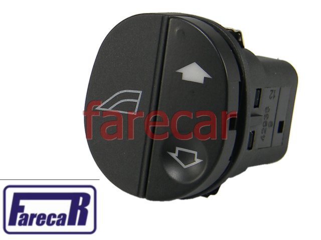 Botao porta do Vidro Eletrico Ford Ka Fiesta Courier Simples Novo  - Farecar Comercio
