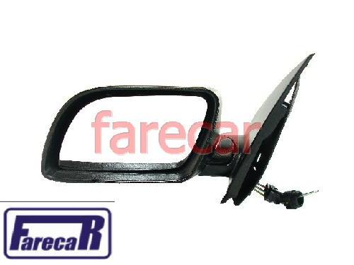 Espelho Retrovisor Polo 2003 a 2010 Controle Alavanca Novo  - Farecar Comercio