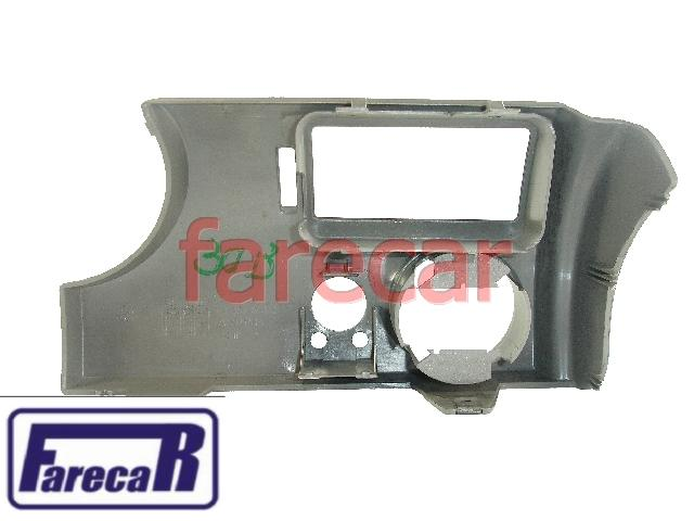 Moldura Painel C/ Furo Retrovisor Gol Parati G3 Cinza Esquerdo  - Farecar Comercio