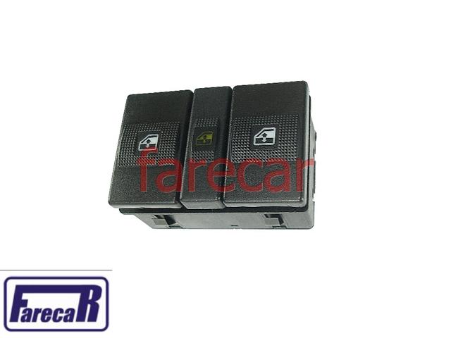 Botao Console Vidro Eletrico Traseiro Santana Quantum 98 a 06 interruptor  - Farecar Comercio