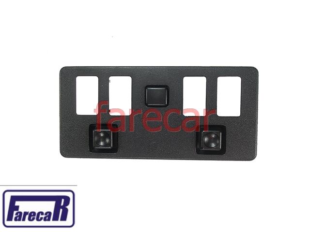 Moldura Console Botao Vidro e Espelho Eletrico Monza 4 Portas  - Farecar Comercio