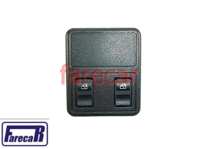 Botao Porta Vidro Eletrico Duplo Kadett Ipanema 89 a 92 COM MOLDURA  - Farecar Comercio
