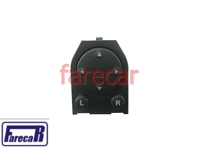 Botao Espelho Retrovisor Eletrico Gol Parati Saveiro G3 00 a 03  - Farecar Comercio