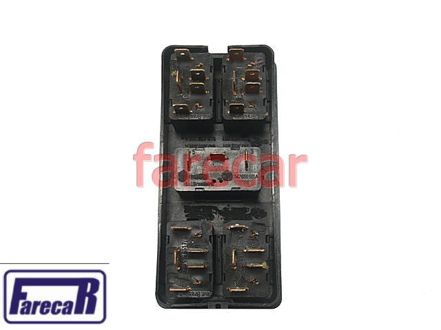 Moldura + Botao Vidro Eletrico Console Pointer 4P 93 a 97  - Farecar Comercio