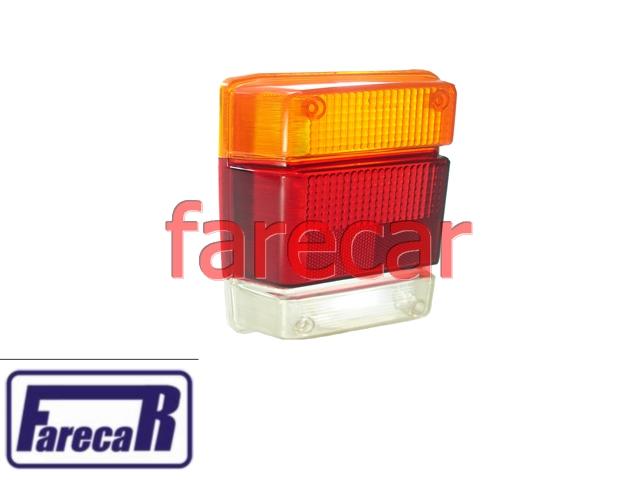 Lente da Lanterna Chevy Marajo Tricolor Esquerda original Cibie  - Farecar Comercio