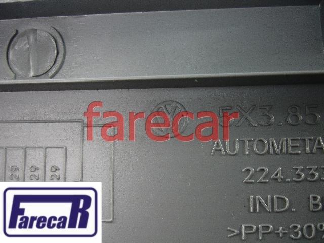 Tampa Moldura Painel Fusiveis Gol Parati Saveiro G3 Cinza Flanel original VW 5X3857968033  - Farecar Comercio