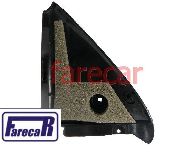 Moldura lado direito de acabamento da porta do espelho retrovisor com controle interno de alavanca Original VW 558857508A Logus e Pointer 1993 1994 1995 1996 1997 1998  - Farecar Comercio
