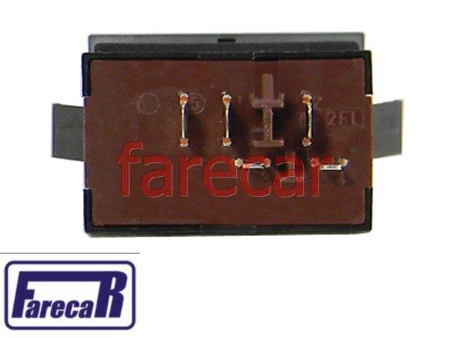 BOTAO INTERRUPTOR TRAVA BLOQUEIO DO VIDRO ELETRICO TRASEIRO GOL G5 VOYAGE G5 2008 A 2012 - 08 09 10 11 12 2009 2010 2011 2012  - Farecar Comercio