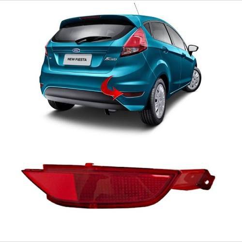 Refletivo lanterna Refletor lado direito Parachoque Ford New Fiesta Hatch Nacional 2013 2014 2015 2016 2017 2018 2019  - Farecar Comercio