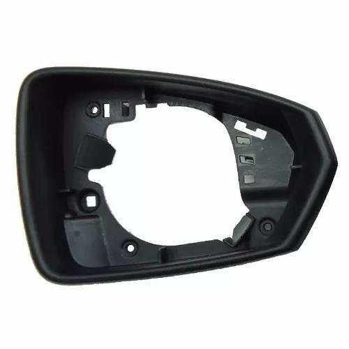Aro Moldura carcaça da capa do espelho retrovisor direito com furo para pisca VW Virtus e Polo 2017 2018 2019  - Farecar Comercio