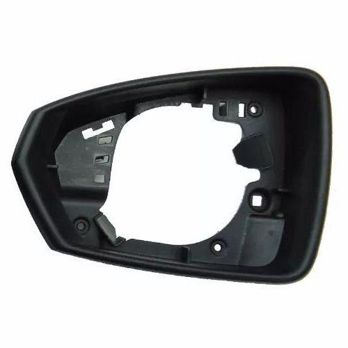 Aro Moldura carcaça da capa do espelho retrovisor esquerdo sem furo para pisca VW Virtus e Polo 2017 2018 2019  - Farecar Comercio