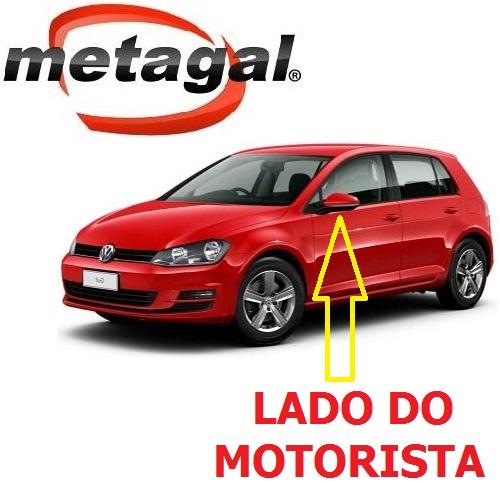 Capa Cobertura do Espelho Retrovisor Lado Esquerdo Pintada na Cor Vermelho Tornado VW Golf 2014 2015 2016 2017 14 15 16 17  - Farecar Comercio