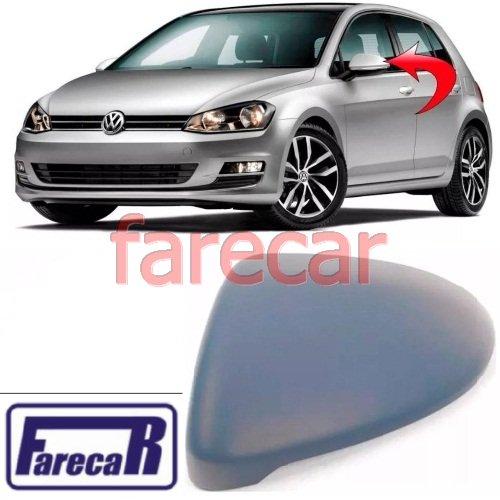 Capa Primer Cobertura do Espelho Retrovisor Lado Esquerdo VW Golf MK7 2014 2015 2016 2017 2018 2019 2020  - Farecar Comercio