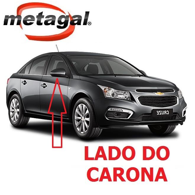 Capa Pintada na cor Cinza Grafhite do Espelho Retrovisor lado direito GM Cruze 2012 2013 2014 2015 2016 12 13 14 15 16  - Farecar Comercio