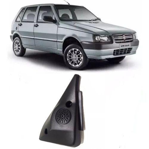 Moldura de parafuso da porta de acabamento interno do espelho retrovisor sem furo para controle lado direito original Fiat 100173604 Uno 4 portas 2004 2005 2006 2007 2008 2009  - Farecar Comercio