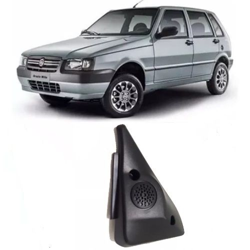 Moldura de parafuso da porta de acabamento interno do espelho retrovisor sem furo para controle lado esquerdo original Fiat 100173608 Uno 4 portas 2004 2005 2006 2007 2008 2009  - Farecar Comercio