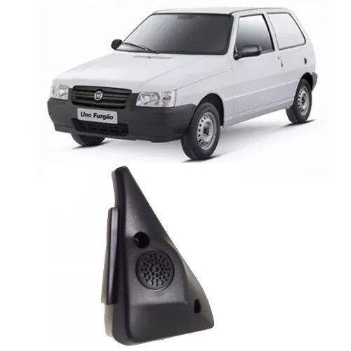 Moldura de parafuso da porta de acabamento interno do espelho retrovisor sem furo para controle lado esquerdo original Fiat 100173606 Uno 2 portas 2004 2005 2006 2007 2008 2009  - Farecar Comercio