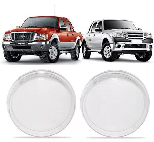 Par de lente farol auxiliar de milha neblina parachoque Ford Ecosport 2003 2004 2005 2006 2007 2008 2009 2010 2011  - Farecar Comercio