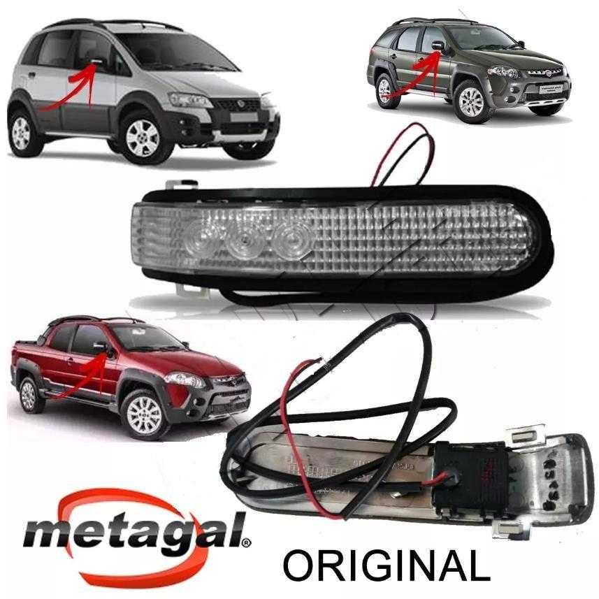 pisca LADO DIREITO da capa do espelho retrovisor Fiat Palio Adventure Fiat Idea Adenture Fiat Strada Adventure  - Farecar Comercio