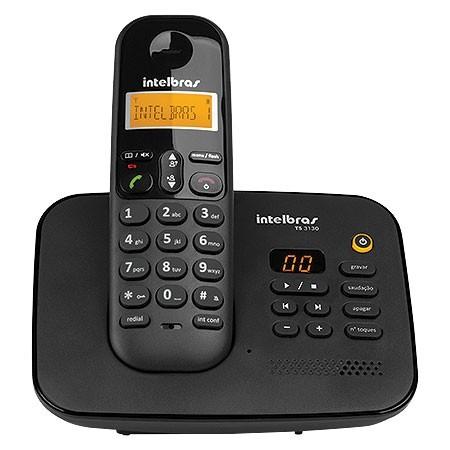 Telefone sem Fio Digital com Secretaria Eletronica TS 3130 Preto 4123130
