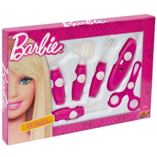 Kit Medica Barbie com 6 Acessorios FUN 7623-0