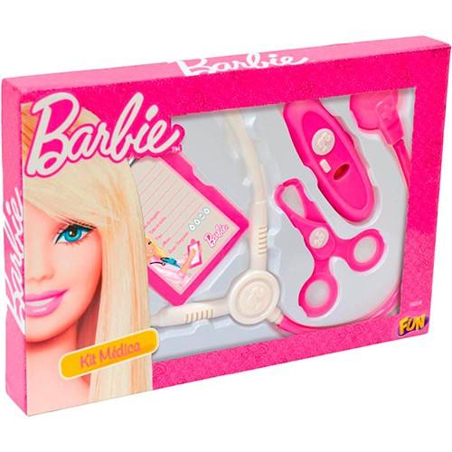 Kit Medica Barbie com 4 Acessorios FUN 7623-0