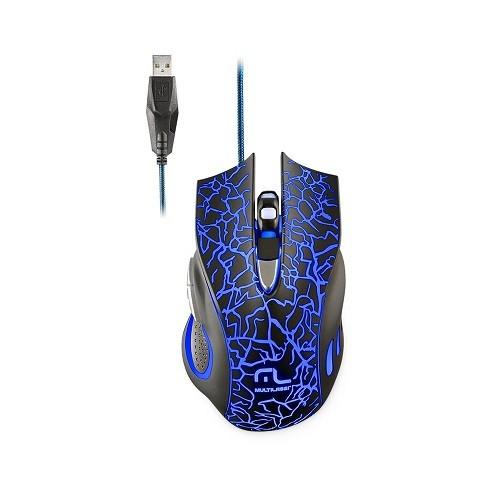 Mouse Gamer Multilaser 6 Botoes LED 2400 DPI - MO250