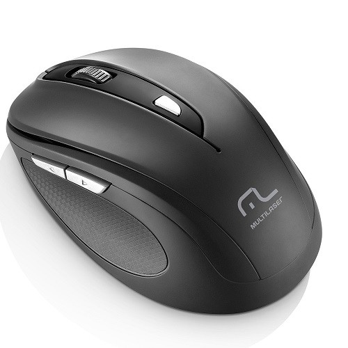 Mouse Wireless Óptico Led 1600 Dpis Comfort Preto Mo237 Multilaser